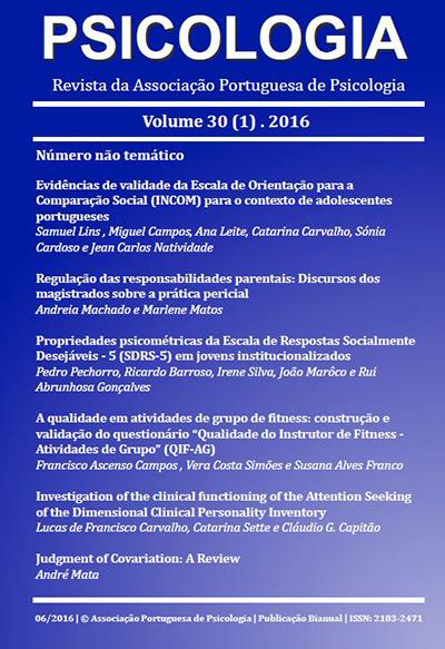 Ver Vol. 30 N.º 1 (2016)