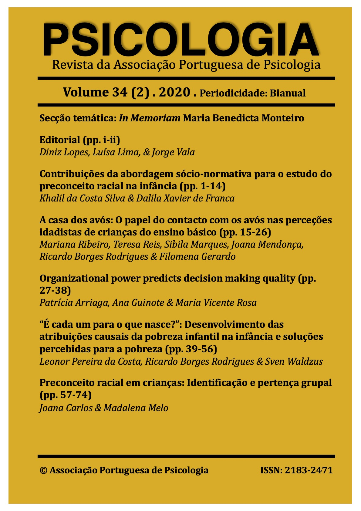 Ver Vol. 34 N.º 2 (2020): Vol. 34, Nr. 2